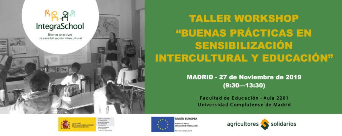 Wokshop Madrid-Buenas practicas en sensibilización Intercultural y Educación